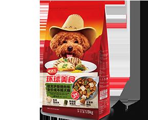 开饭乐环球美食德克萨斯<br/>烤肉味全价成年期犬粮